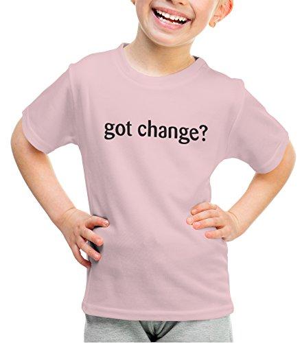 shirtloco Girls Got Change Youth T-Shirt, Light Pink Extra (Change Kids Light T-shirt)