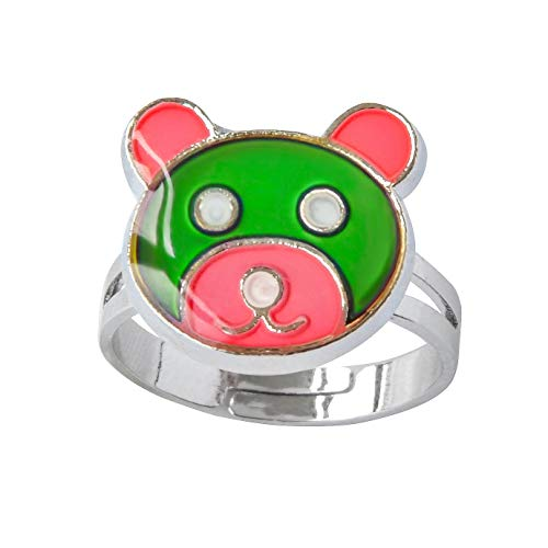 Inspiration Bear Finger Ring Adjustable Size Decorations Mood Ring Color ()