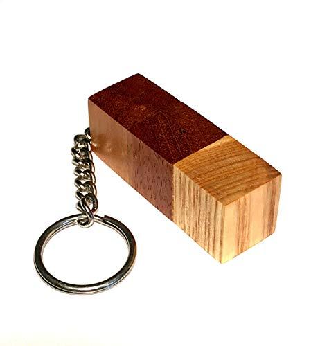 (Elder tree logs keychain; Elderberry mahogany teak wood keychain; Exotic wood key chain; Eco friendly; Wooden key ring charm; Natural tung oil finish; Handmade in Washington State;)