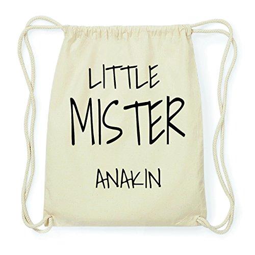 JOllify ANAKIN Hipster Turnbeutel Tasche Rucksack aus Baumwolle - Farbe: natur Design: Little Mister