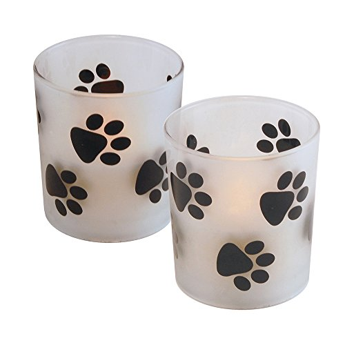 Lumabase Battery Operated LED Candles- Paw Prints (2Count) by Lumabase