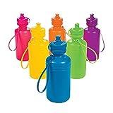 Neon Sport Water Bottles (1 dozen) - Bulk [Toy]