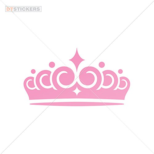 Vinyl Stickers Decal Princess Crown Si For Helmet waterproof queen luxury imperial award (5 X 2,73 Inches) Pink