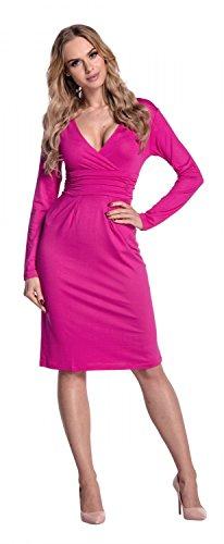 Empire Cache Fuchsia Glamour Dcollet Longues Fourreau Manches Robe Coeur 285 Femme 1Cdwqf