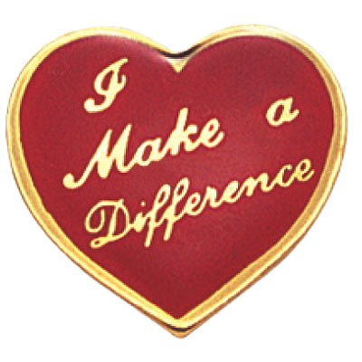 I Make A Difference Lapel Pin - Pack of 10 (Difference Lapel Pin)