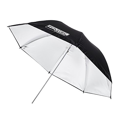 Fovitec - 1x 43 inch Silver Photography & Video Reflector Umbrella - [Reinforced Fiberglass][Lightweight][Easy Set-up][Collapsible][Durable Nylon] by Fovitec
