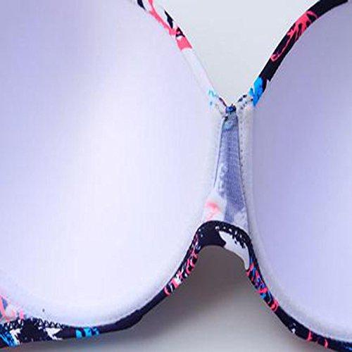 TAOZHN Trajes De Baño Mujer Bikini L XL XXL 3XL 4XL Deportes Acuáticos Verano Precioso Noble Bikini Oscuro Esculpir El Cuerpo Traje De Baño Safflower