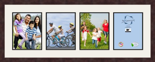 ArtToFrames 1.25-Inch Espresso Picture Frame with 4 Openi...