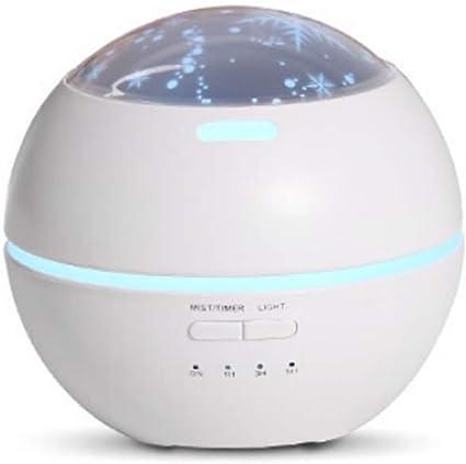 LQIQI Máquina de aromaterapia proyección luz nocturna ...