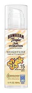 Hawaiian Tropic Silk Hydration Weightless Sun Care Sunscreen Lotion SPF, 5.1 Ounce