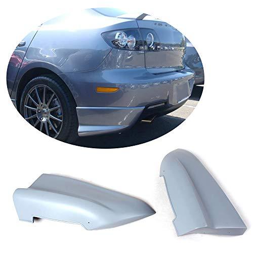 (MCARCAR KIT Rear Bumper Splitter fits Mazda 3 Axela Sedan 2006-2010 Customized Unpainted Primer Polyurethane PU Moulding Upper Spoiler Winglets Vents Cover Flaps)
