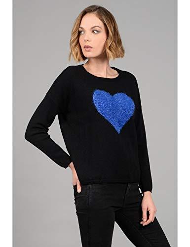 Coeur Noir Taille S Pull XS Couleur Douceur zwRdqF8