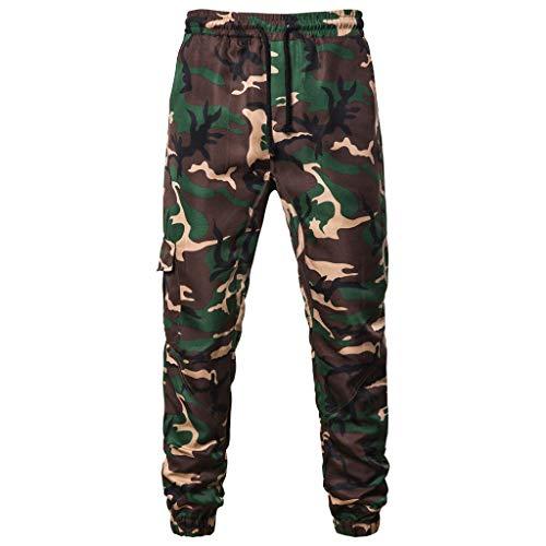 IEasⓄn Men's Camouflage Longs Cargo Pants,Man Fashion Casual Sport Tooling Pants by IEasⓄn (Image #4)