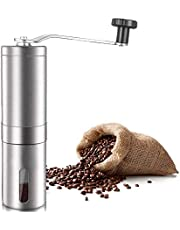 KEATY Manual Coffee Grinder, Coffee Maker for Fresh Coffee, Hand Bean Mill, Stainless Steel, Perfect for Home,Office or Travelling (Sliver)