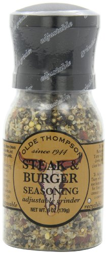 Olde Thompson Steak & Burger Seasoning, 6-Ounce Grinders (Pack of 2)