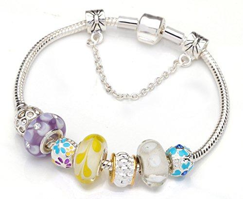 Yellow Glass Beads Beaded Bracelets