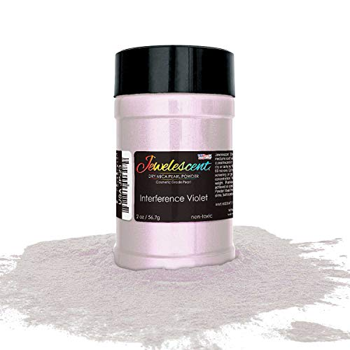 U.S. Art Supply Jewelescent Interference Violet Mica Pearl Powder Pigment 2 oz (57g) Shaker Bottle - Cosmetic Grade, Non-Toxic Metallic Color Dye - Paint, Epoxy, Resin, Soap, Slime Making, Makeup, Art