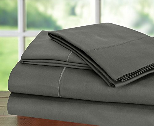 Hotel Collection! Luxury Sheets on Amazon Top Seller in Bedding! - Blockbuster Sale: Todays Special - Luxury 1000 Thread count 100% Egyptian Cotton Sheet Set, King - Charcoal