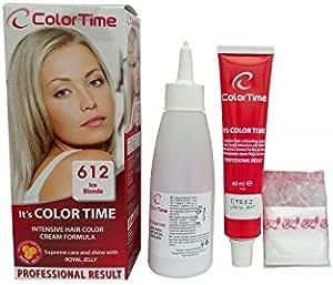 Color time, tinte en crema para el cabello de color rubio