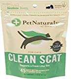 Pet Naturals of Vermont - Clean Scat, Digestive Support and Litter Box Odor Control for Cats, 45 Bite-Sized Chews