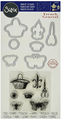 sizzix-framelits-die-set-with-stamps-french-icons-no2-by-french-general-7-pack