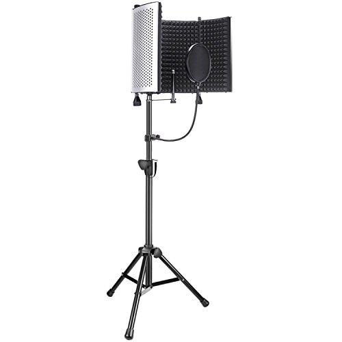Neewer Accesorios de Micrófono Grabación Estudio Profesional Incluyen: NW-5 Panel Aislamiento Micrófono, Soporte de...