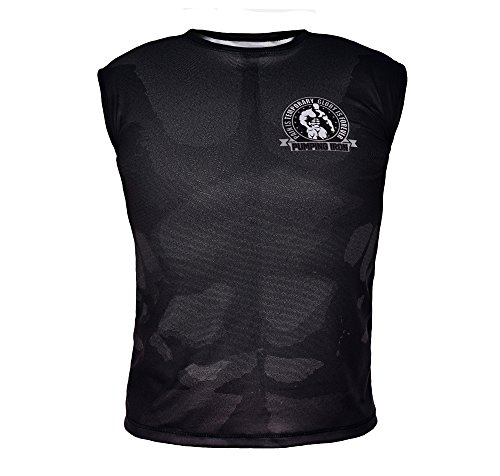 Pumping Iron MMA Gym Crossfit Technical Men's Sleeveless Sublimated T-Shirt KT1