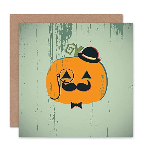 Wee Blue Coo NEW HALLOWEEN GENTLEMAN PUMKIN SPOOKY BLANK GREETINGS CARD ART CS359 -