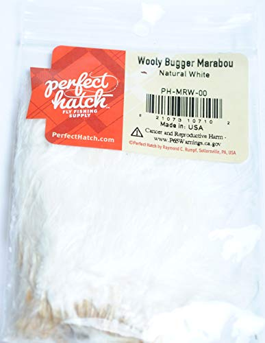 (Perfect Hatch Wooly Bugger Marabou (Natural White))