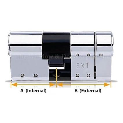 Par de cerraduras para puerta de cilindro Avocet ABS con juego de llaves iguales certificadas 3 Star TS007: Amazon.es: Bricolaje y herramientas