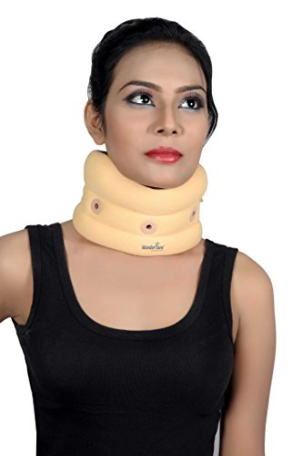 Wonder Care- Soft Cervical Collar Adjustable Collar Neck Support Brace, Wraps Aligns & Stabilizes Vertebrae - Relieves Pain, Treating & Rehabilitating Neck, Head or Spinal Orthosis/Injuries C101 Large