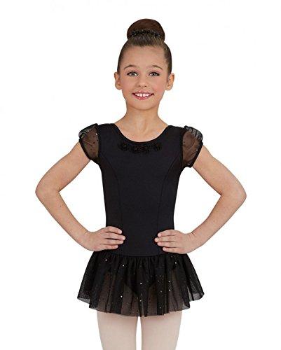 Capezio Puff Sleeve Dress (Black, ()