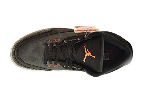 Air Jordan 3 Rétro Peur Pack Hommes Chaussures Stade De Nuit / Total Orange-noir-naturel Gris 626967-040