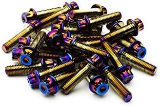 /10.9/HT Stahl f/ür BBS RM oz Rollen SRR Hardware Neo chrom Split Rand Schrauben M7/x 24/mm/
