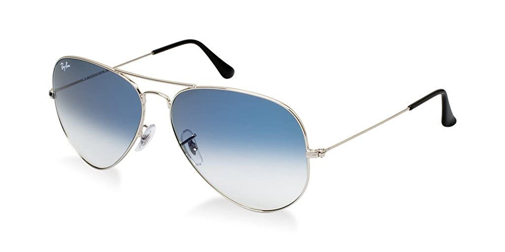 f37796aeaf Amazon.com  Ray Ban RB3025 003 3F 55 Silver Light Blue Gradient Large Aviator  Bundle-2 Items  Shoes