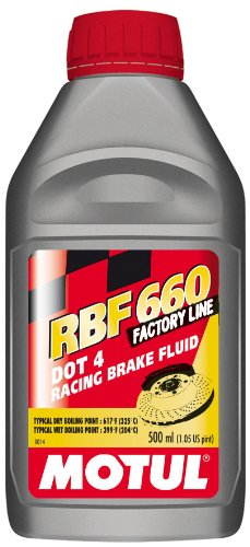 Motul RBF 660 - Racing DOT 4 Brake Fluid 500ml (Pack of 6) by Motul