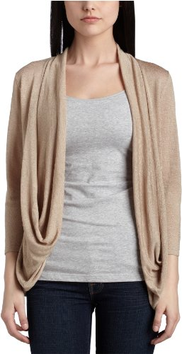 Kenneth Cole Women's Open-Front Cardigan,Dark Sand,Medium
