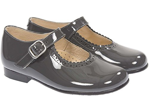 Panache Kids Mary Jane Traditional Girls Shoe Grey 8bymB