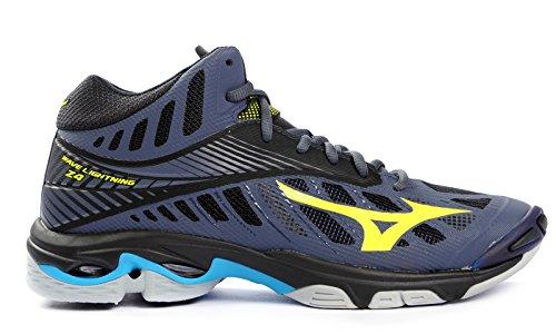 Lightning Shoe jaune Herren Mizuno Wave bleu bleu marine Mid Sneakers wqTtva