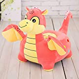 Cartoon Seats Dinosaur Soft Children's Plush toy Bean Bag Chair toy Ideal for Children, Tatami Sofa,Ages 2 and up,15''L x 13''W x 19'' H (Pink dinosaur)