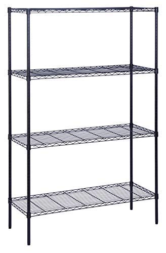 Honey-Can-Do 4-Tier Steel Wire Shelf with 350-Pound Capacity, 18