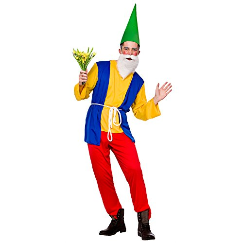 Adults Funny Garden Gnome Fancy Dress Up Party Halloween Costume Outfit]()