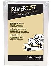 Trimaco SuperTuff Paper/Poly Drop Cloth, 9-feet x 12-feet