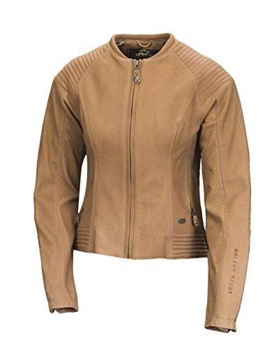 Roland Sands Design Quinn Women's Tan Leather Jacket, M