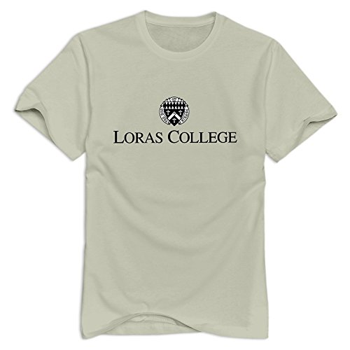 - Natural VAVD Man's Loras College Short Sleeve T Shirt Size XS
