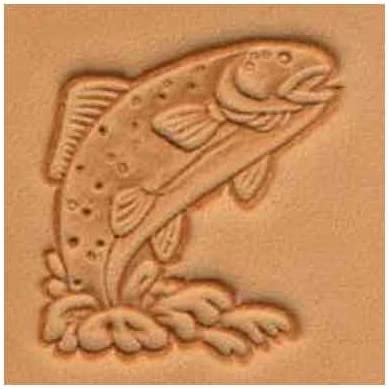 Springfield Leather Company Trout 3D Leather Stamp