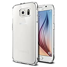 Galaxy S6 Case, Spigen [Ultra Hybrid] AIR CUSHION [Crystal Clear] - [1 Back Protector Included] Scratch Resistant Bumper Case with Clear Back Panel for Galaxy S6 (2015) - Crystal Clear (SGP11317)