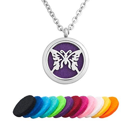 Angelic Star Pendant (LoEnMe Jewelry Aromatherapy Essential Oil Diffuser Necklace Butterfly Beauty Animal Locket Pendant Women Girl Men)