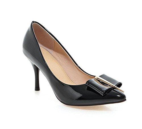 xie Femmes Chaussures Court Thin avec High-Heeled Mine Bouche Simple Style Metal Simple Chaussures Couleur, 43