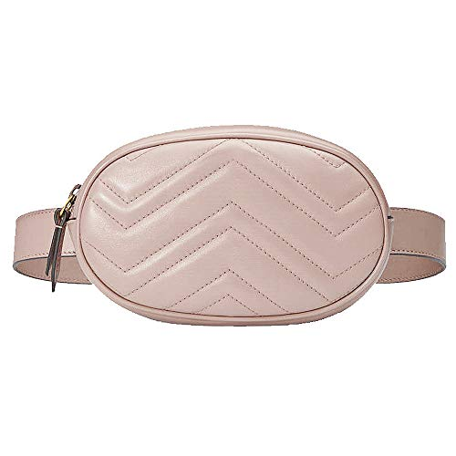 Beatfull Fashion Fanny Packs, Designer Waist Bag for Women with Insect Pattern, Leather Belt Bag (W-Pink) -